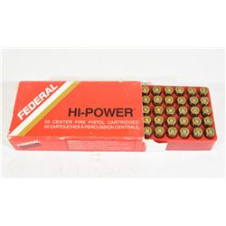 50 Rounds Federal 380 Auto JHP