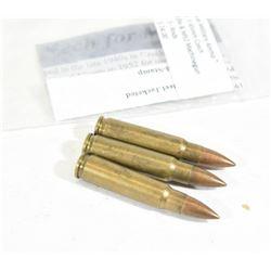 3 Rounds 7.62x45 Czech Ammo