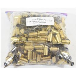 Approximately 375 Pieces 40S&W Brass