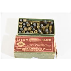 35 Rounds Dominion 32 S&W Ammo in Box