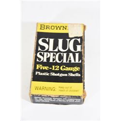 5 Round Box of Browning Slug Special 12ga Slugs