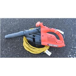 Black & Decker Leaf Blower with Extension Cord