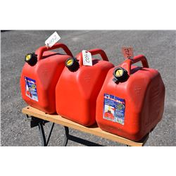 Three 20L Scepter Gas Cans