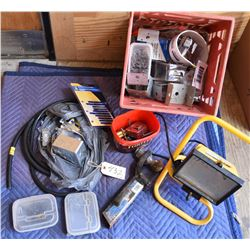 Box Lot Electrical and Carpenter Items