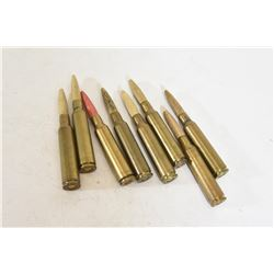 8 Rounds 6.5x55mm Swedish Wood Practice Ammo