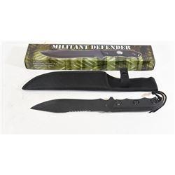 Military Defender Black Stainless Steel Knife