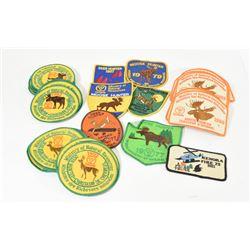 40 MNR Moose & Deer Crests from 70's, 80's, & 90's