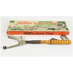 Western Hand Trap Clay Target Thrower