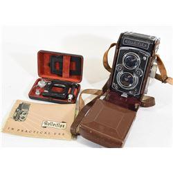 Rolleikin Rolleiflex 35mm Film, Adapter, Manual