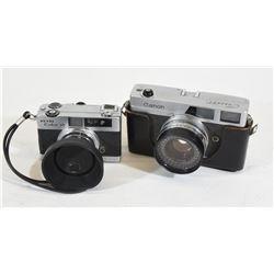 Vintage Petri Colour 35 and Canon Canomet Cameras
