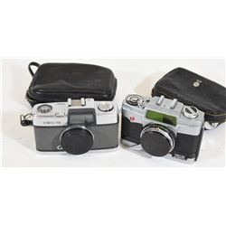 Vintage Olympus Pen & Petri Junior Cameras