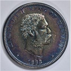 1883 HAWAII QUARTER DOLLAR AU/BU