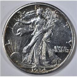 1934-S WALKING LIBERTY HALF AU