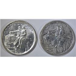 2-1925 STONE MOUNTAIN COMMEM HALF DOLLARS: VF & AU