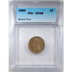 1860 INDIAN CENT ICG AU-58
