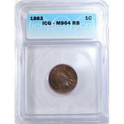 1883 INDIAN CENT ICG MS-64 RB