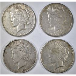2-1922-S & 2-23-S CIRC PEACE DOLLARS
