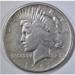 1921 PEACE DOLLAR VF SOME MARKS