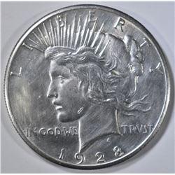 1928 PEACE DOLLAR AU/BU CLEANED