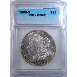 1888-S MORGAN DOLLAR ICG MS-62
