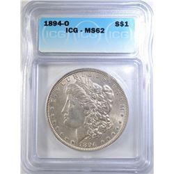 1894-O MORGAN DOLLAR ICG MS-62