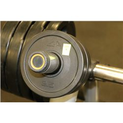 SET OF 4 2.6LB RUBBERIZED WEIGHT PLATES