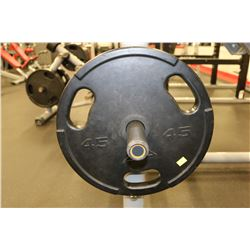SET OF 2 45LB RUBEERIZED WEIGHTS