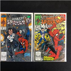THE AMAZING SPIDER-MAN COMIC BOOK LOT #330/ #326 (MARVEL COMICS)