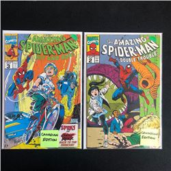 THE AMAZING SPIDER-MAN COMIC BOOK LOT #3/ #2 (MARVEL COMICS)
