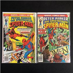 PETER PARKER THE SPECTACULAR SPIDER-MAN COMIC BOOK LOT #1/ #2 (MARVEL COMICS)