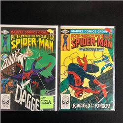 PETER PARKER THE SPECTACULAR SPIDER-MAN COMIC BOOK LOT #64/ #58 (MARVEL COMICS)