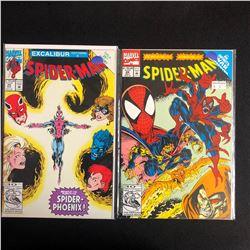 SPIDER-MAN COMIC BOOK LOT #25/ #24 (MARVEL COMICS)