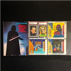 STAR WARS COLLECTIBLES LOT (GRADED STICKERS, STORYBOOK...)