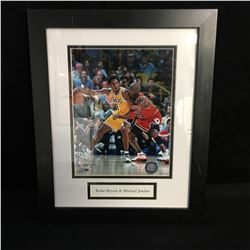 KOBE BRYANT & MICHAEL JORDAN FRAMED BASKETBALL PHOTO
