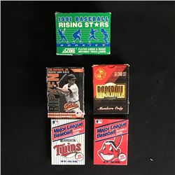 BASEBALL TRADING CARDS PACKS LOT (VARIOUS YEARS)
