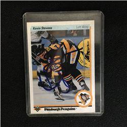 KEVIN STEVENS SIGNED 1990-91 UPPER DECK HOCKEY CARD