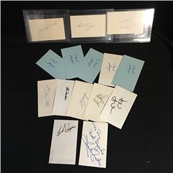 AUTOGRAPHED INDEX CARDS LOT