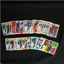 1983-84 O-PEE-CHEE HOCKEY CARD LOT