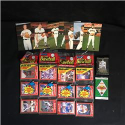 BASEBALL TRADING CARDS LOT (VARIOUS YEARS)
