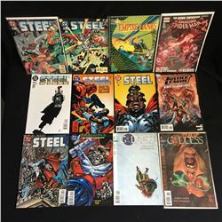 VARIOUS COMIC BOOK LOT (STEEL, SPIDER-MAN)