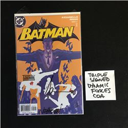 TRIPLE SIGNED BATMAN 625 COMIC ( DYNAMIC FORCES COA)