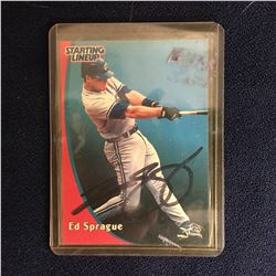 ED SPRAGUE SIGNED BASEBALL CARD