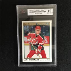 1992 OPC PREMIER SCOTT NEIDERMAYER ROOKIE KSA 10