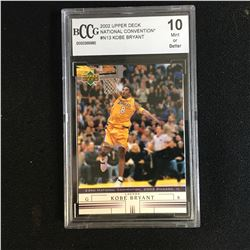 2002 UPPER DECK NATIONAL CONVENTION KOBE BRYANT BCCG 10