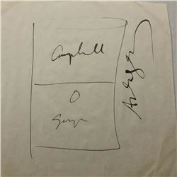 Signed Andy Warhol Campbell's Pea Soup Sketch