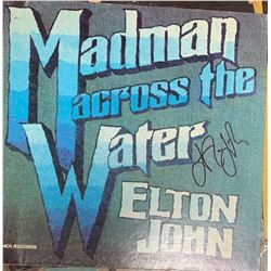 Signed Elton John , Madman Across the Water Album Cover