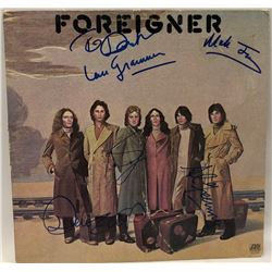 "Signed Foreigner ""Foreigner"" Album Cover"