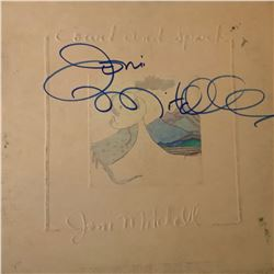 Signed Joni Mitchell Court And Spark Album Cover