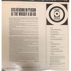 Signed Otis Redding In Person At The Whiskey A Go Go Album Cover