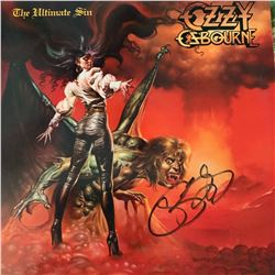 Signed Ozzy Ozbourne The Ultimate Sin Album Cover